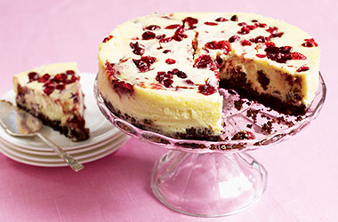 Cranberry and Chocolate Cheesecake