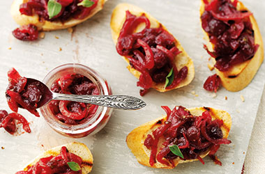 Cranberry Bruschetta