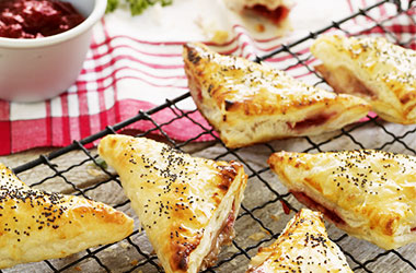 Cranberry and Camembert Puffs