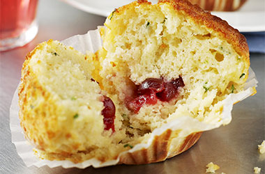Cheddar, Cranberry and Chive Muffins